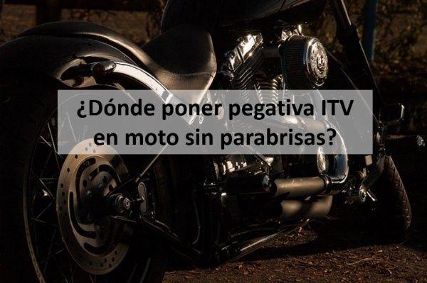 DONDE PONER PEGATINA ITV