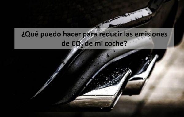 ¿Qué puedo hacer para reducir las emisiones de CO2 de mi coche?